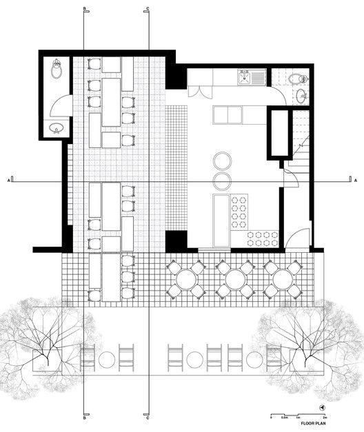 El moro cadena concept design restuarants for Juice bar floor plan