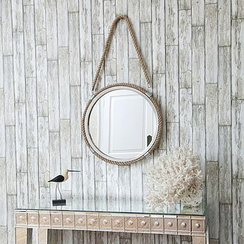 Hanging Rope Mirror | Rope mirror, Round mirror with rope ...