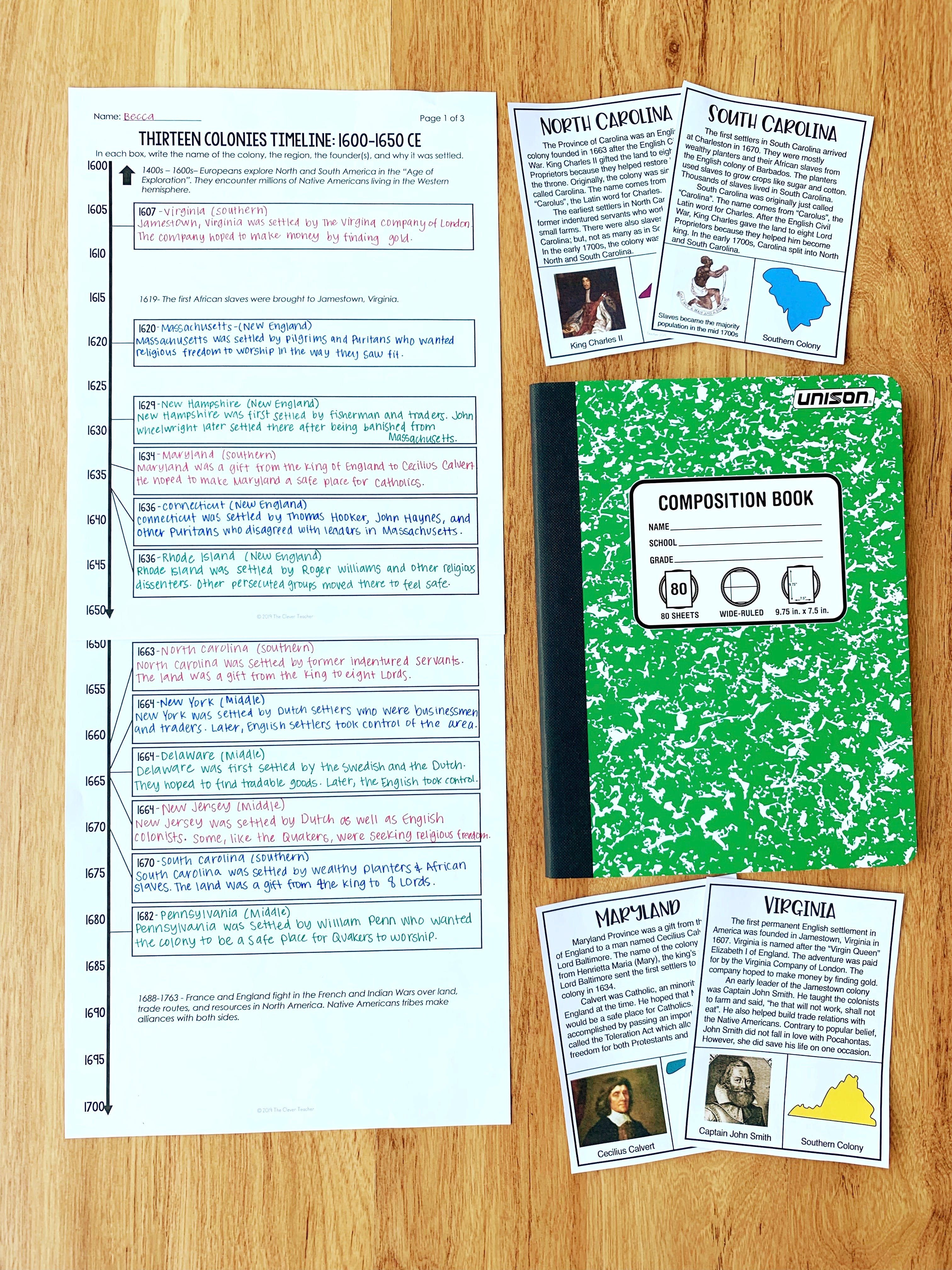 13 Colonies Videos For Students With Free Worksheets 13 Colonies Teaching Us History History Interactive Notebook [ 4032 x 3024 Pixel ]