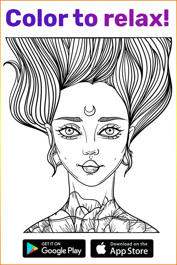 Plunge Into A Fairy World Of Coloring With Coloring Book For Me App A Perfect Tool To Relax While The Time Away And Coloring Books Sticker Art Coloring Pages