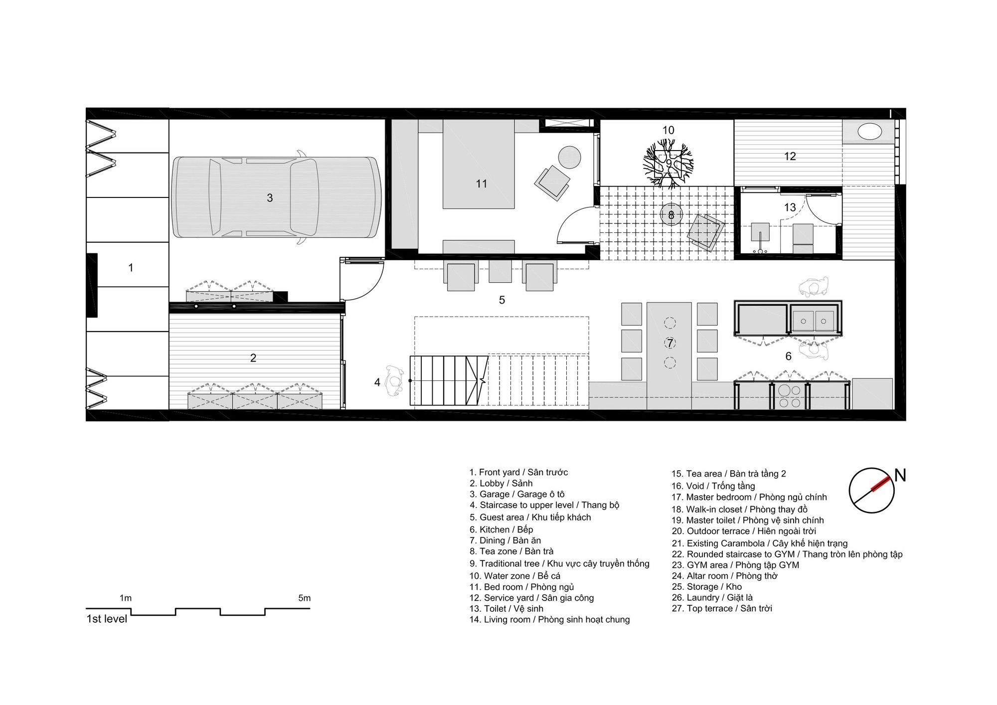 Casa 7x18,Planta