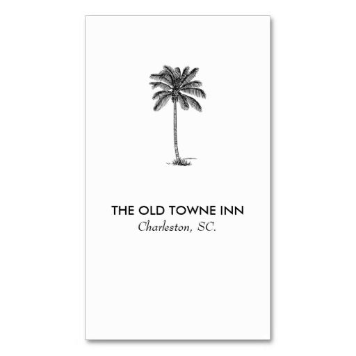 Modern business card no 70 vintage palm tree business cards modern business card no 70 vintage palm tree bed and breakfast business card colourmoves