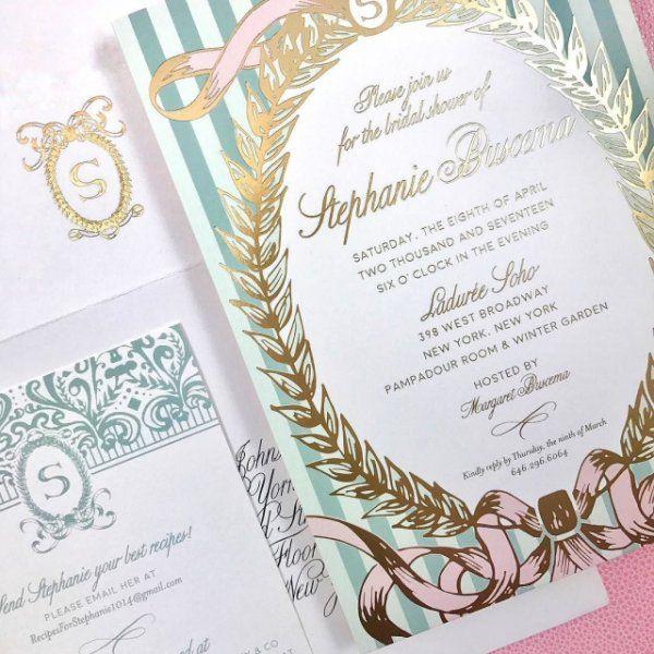 ffdcf930638c Ladurée inspired bridal shower invitation for our  CeciBride Stephanie.   cecicouture  cecinewyork  paris  laduree  frenchdesign  bridalshower   invitation ...