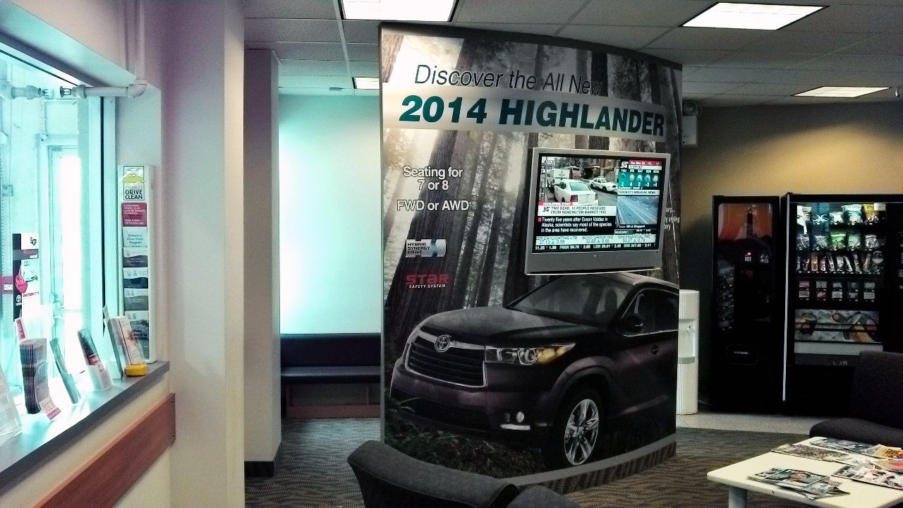 Wall Wrap Graphics At Oakville Toyota Rush Job Approved 600pm On A