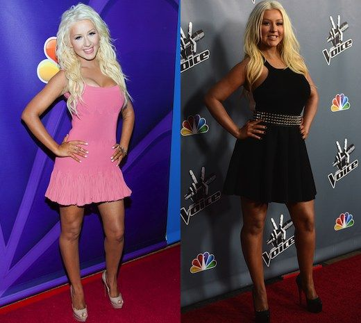 Christina Aguilera shows off weight loss at 'Voice' event