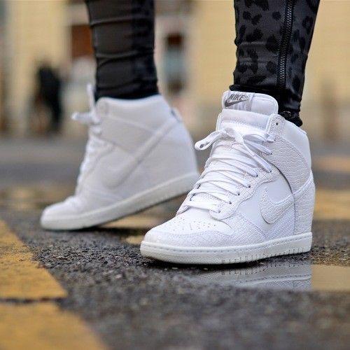 Best Drop Shipping Nike Dunk SKY HI Womens Skateboard shoes White