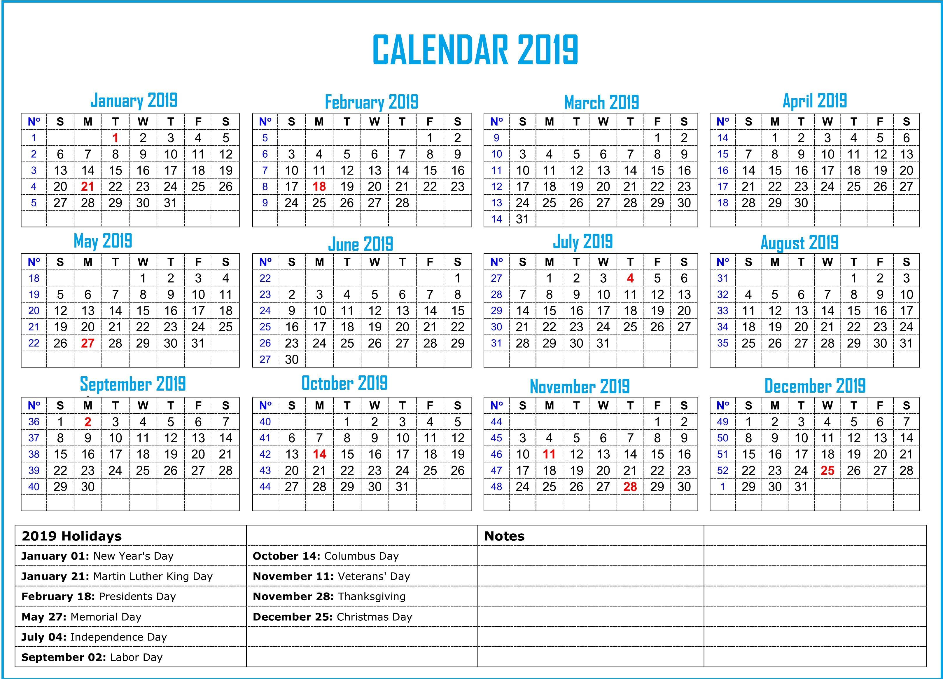 2019 Bank Holiday Calendar Calendar2019 Printablecalendar