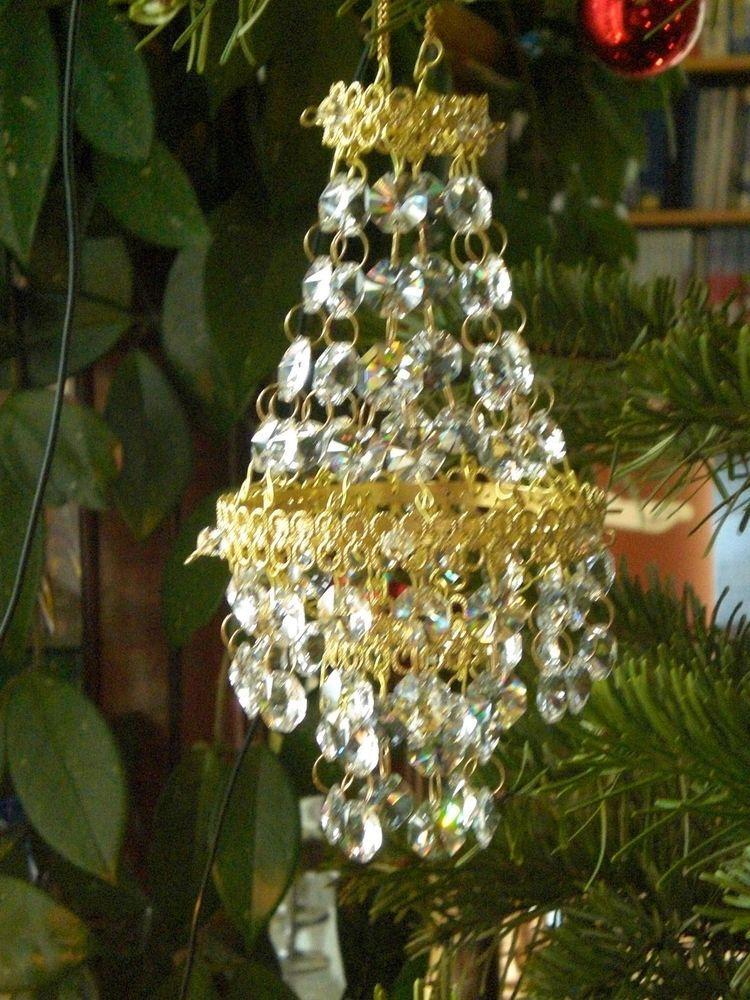 Kronleuchter mini Deko Kristallsteine Advent Weihnachten