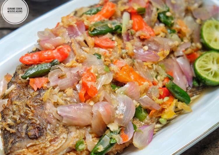 Resep Gurame Cobek Oleh Susi Agung Resep Resep Seafood Resep Ikan Resep Masakan Asia