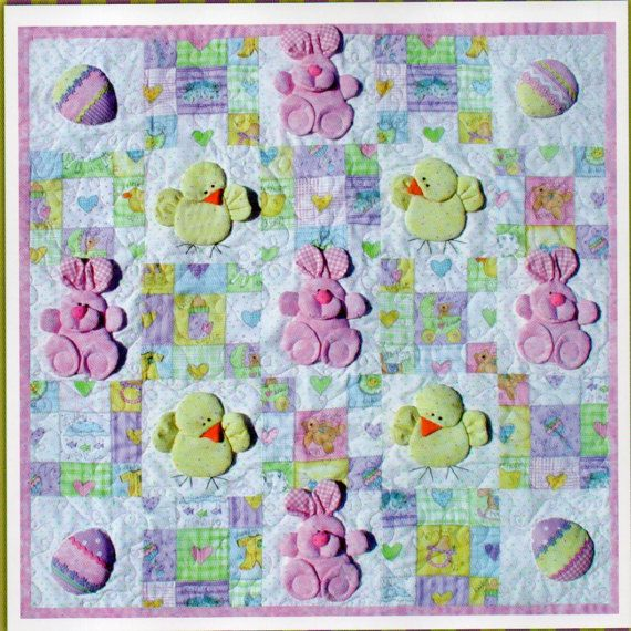 Easter Bunny Rabbit and Eggs Quilt Pattern Dimensional Easter