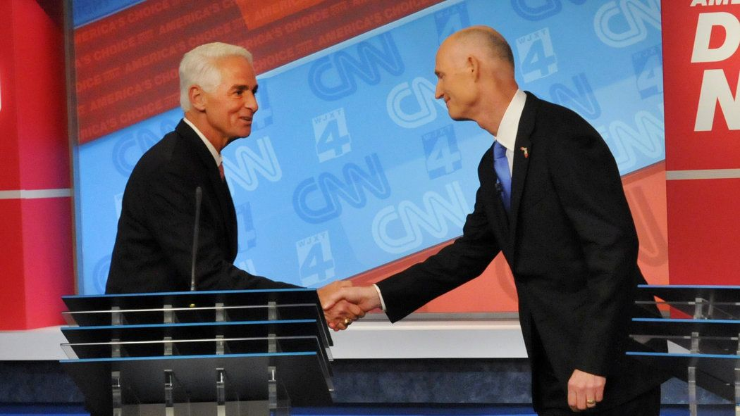 New York Times: Oct. 22, 2014 - After the uproar over a fan, Florida's second gubernatorial debate takes on a hostile edge