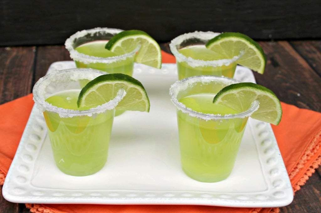 Lime Margarita Jello Shots - Sparkles to Sprinkles