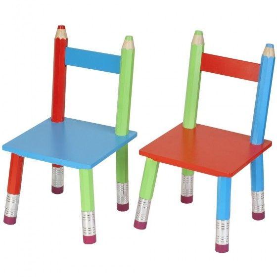 Chaise design Crayon (X2)