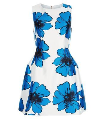 Cool Cameo Rose Blue Floral Print Skater Dress Check more at http://www.fiftyshadestores.com/shop/womens/cameo-rose-blue-floral-print-skater-dress-3/