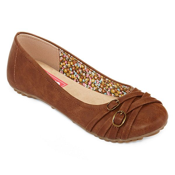 1742aa2512c8 Pop Nelly Buckle Accent Ballet Flats - Wide Width - JCPenney