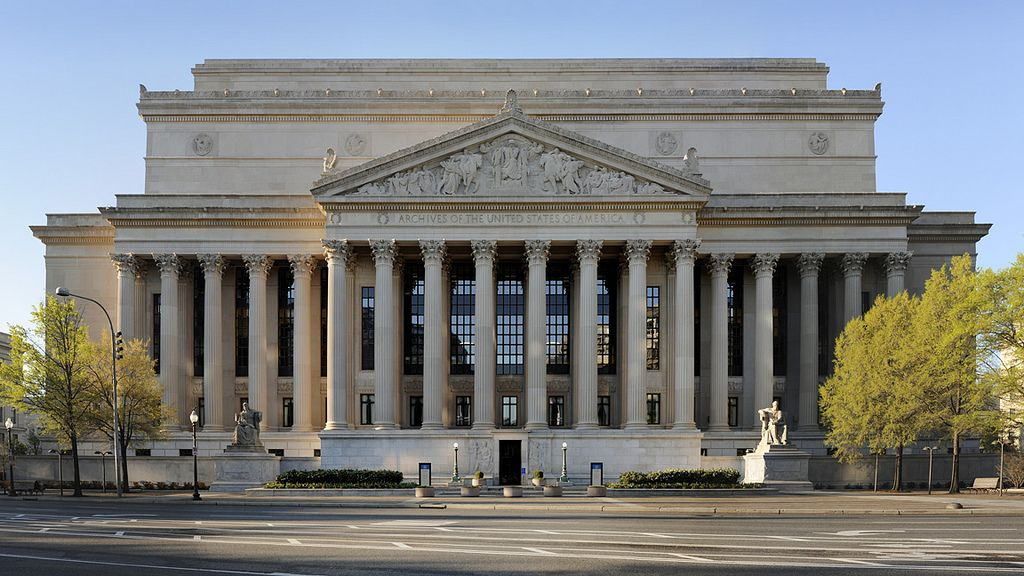 The National Archives in Washington, DC National