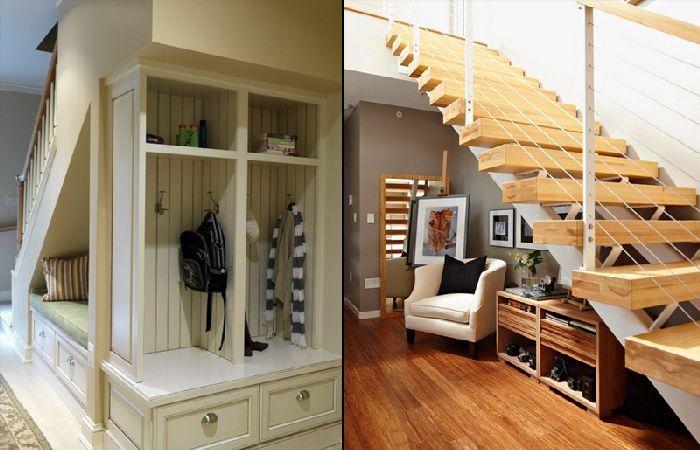 Creative storage space under stairs design solution casa for Interior decoration under stairs