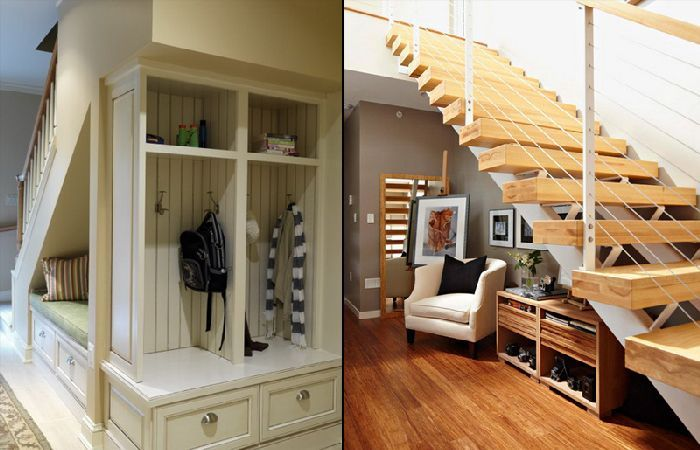 Best Creative Storage Space Under Stairs Design Solution With 400 x 300