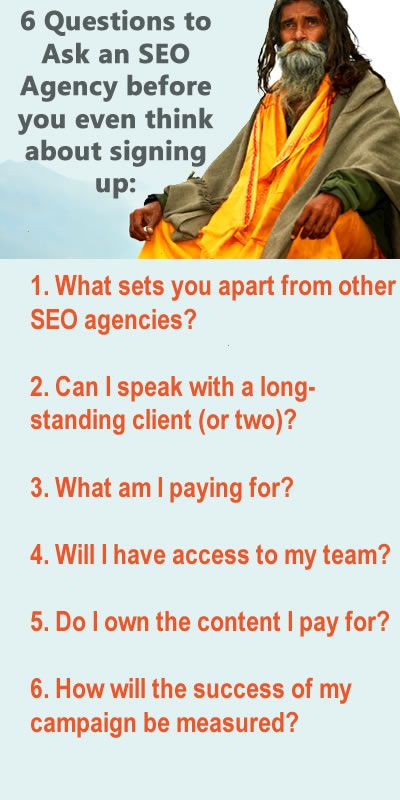 6 questions to ask an SEO Agency before you even think about signing up #SEO