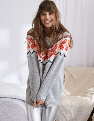 Aerie Oversized Fair Isle Sweater   American eagle outfitters ...