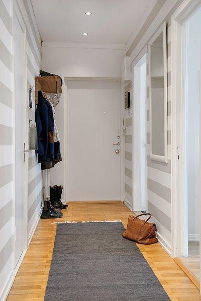 Ideas para recibidores peque os espacios peque os decoracion de pasillos decoraci n de unas - Papel pintado para recibidores ...