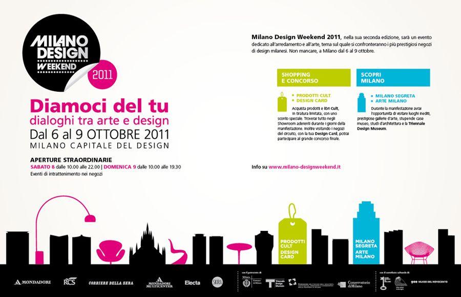 Gruppo Mondadori e Gruppo RCS.  Milano Design Weekend Advertising.