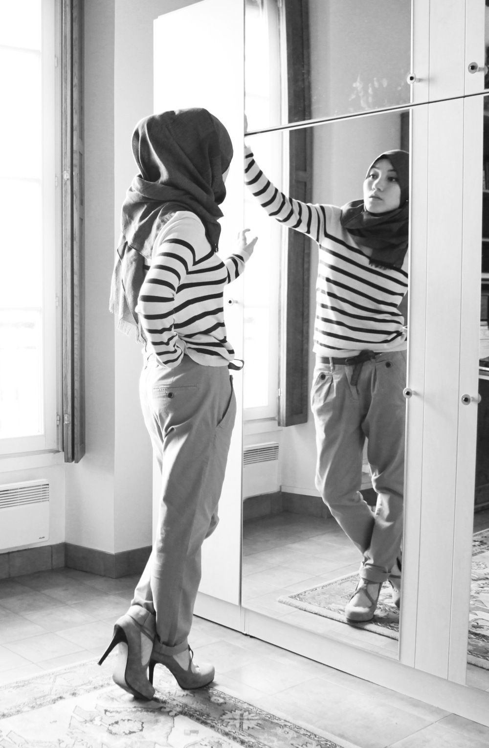Stripes Hijab Fashion Hana Tajimajpg Hijab Outfit Pinterest