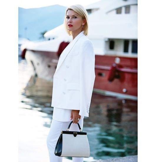 fc7e34616bd6 Small Florence Frame Bag in Monochrome Saffiano from Aspinal of London