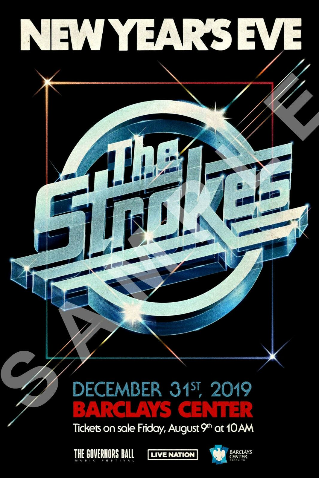 The Strokes 1218 New Years Eve 2019 Concert Poster Barclays Center Casablancas Artposters In 2020 The Strokes Concert Posters New Year S Eve 2019