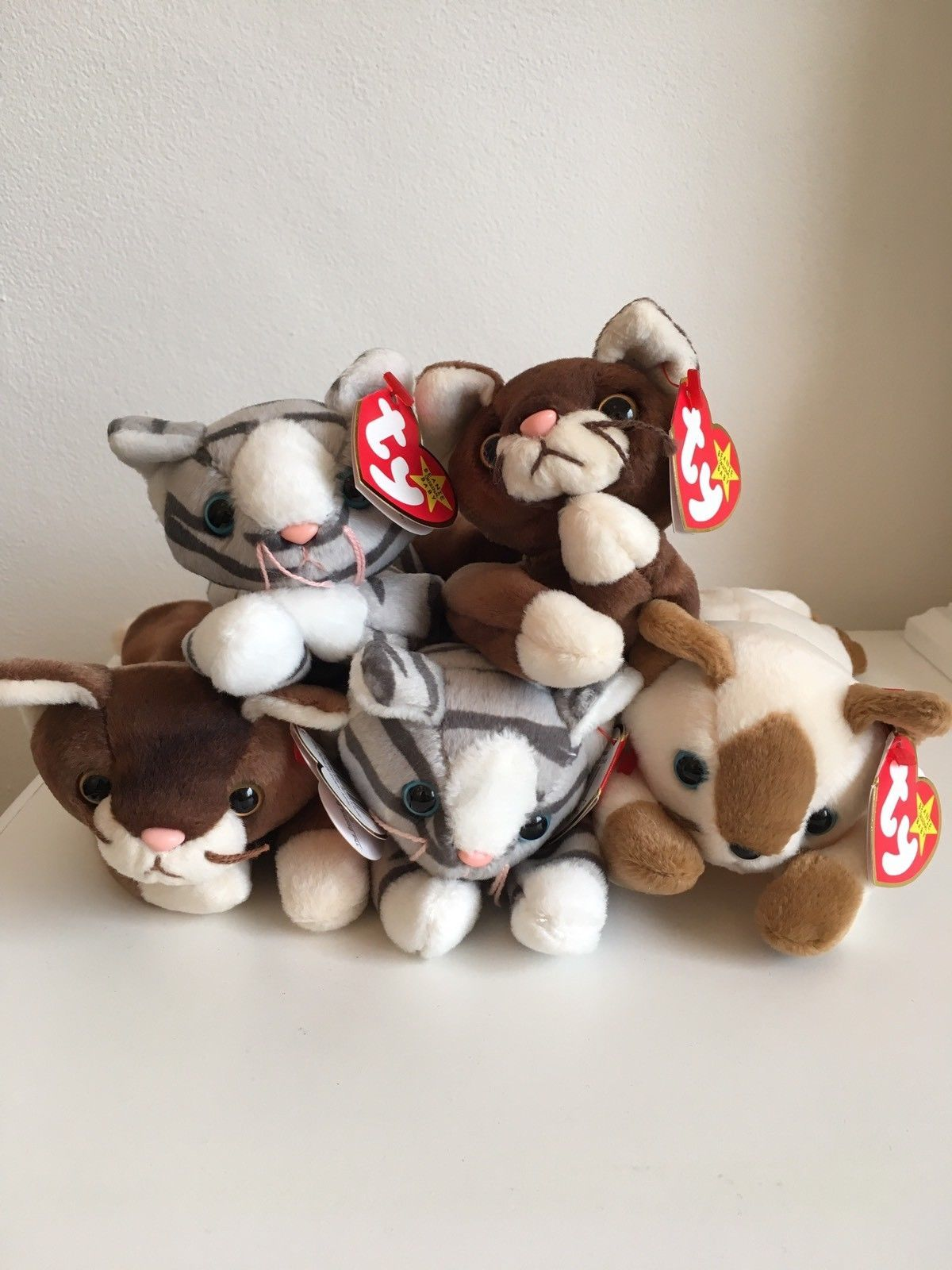 fd418c767b4 TY Beanie Babies Cat Job Lot Snip Prance Pounce Retired Rare