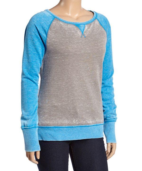 Look at this Gray & Ocean Raglan Sweatshirt - Plus on #zulily today!