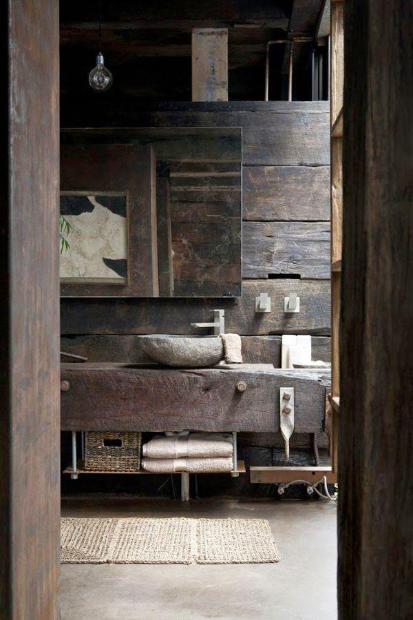 Salle de Bain Rustique  46 Idées  Inspirations (PHOTOS) Wabi