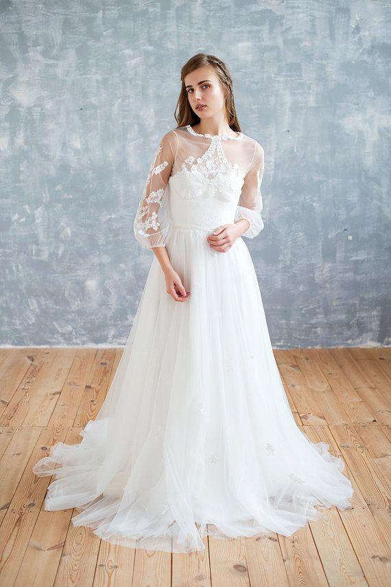 Amy wedding dress STYLE 17043i, ivory wedding dress, floral wedding ...
