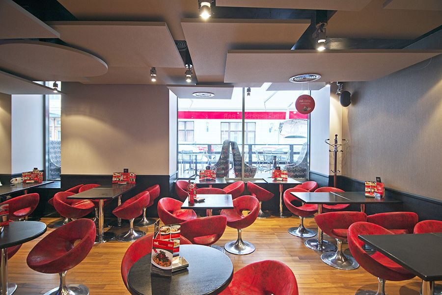 basiccollection, red espresso pushechnaya moscow #design #cafe