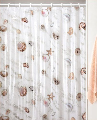 Amazon Com Seashell Beach Sea Shell Decor Shower Curtain Beach