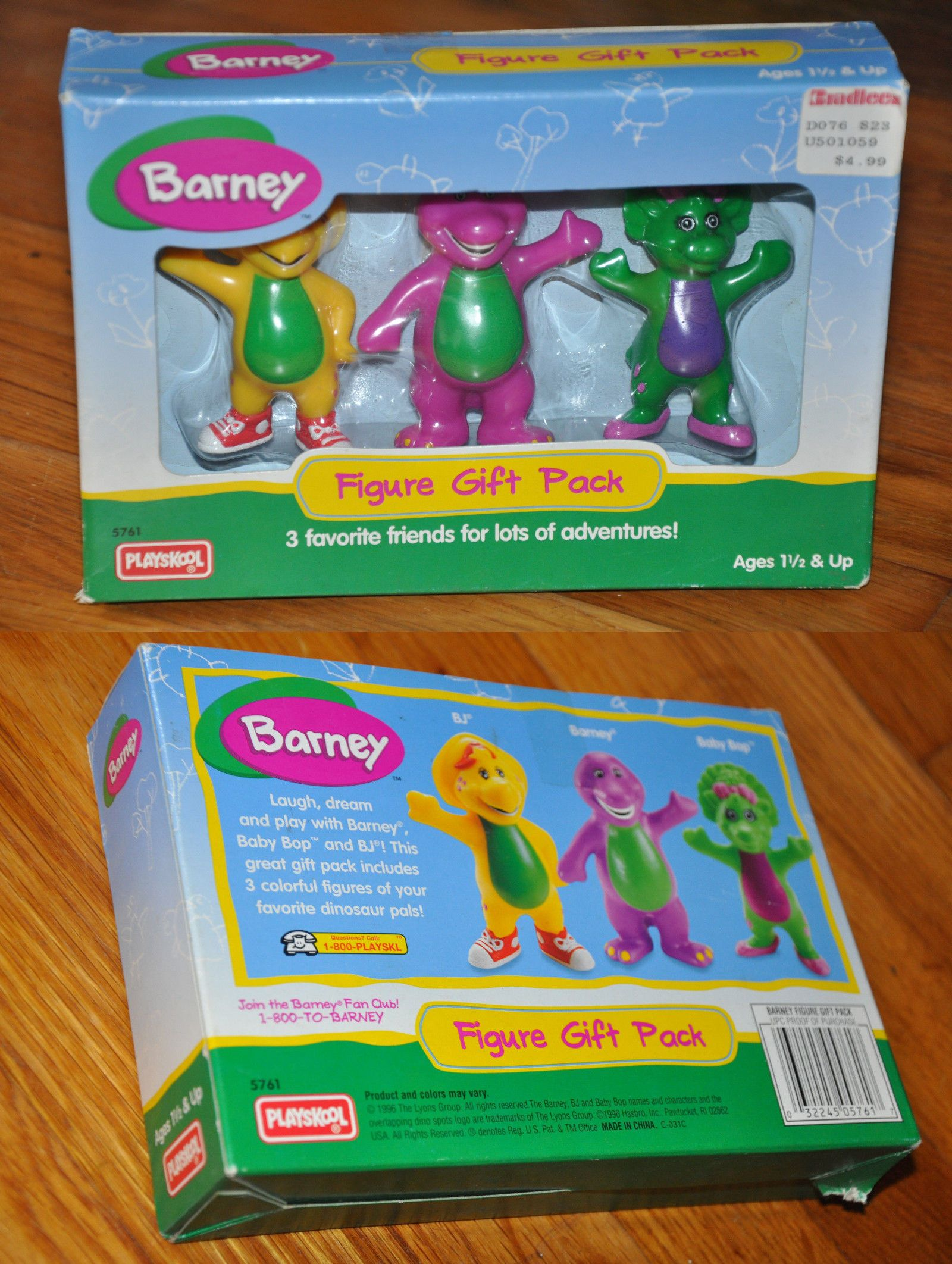 barney 2625 1996 playskool barney figure gift pack baby bop bj