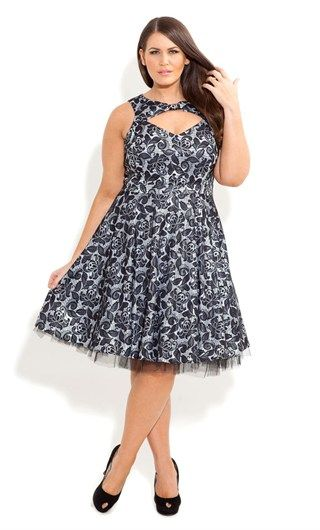 CITY CHIC LACE LOU LOU DRESS