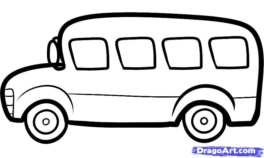 how to draw a bus for kids step 5 | How to draw | Pinterest ...