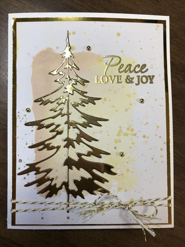 Tim Holtz Woodlands die. Christmas card. | Tim holtz | Pinterest ...