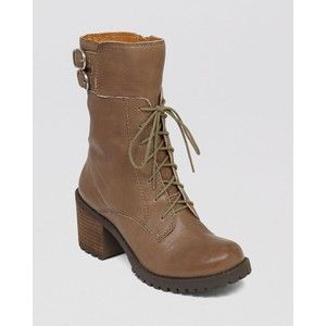 Lucky Brand Lace Up Lug Sole Combat Boots - Nylah