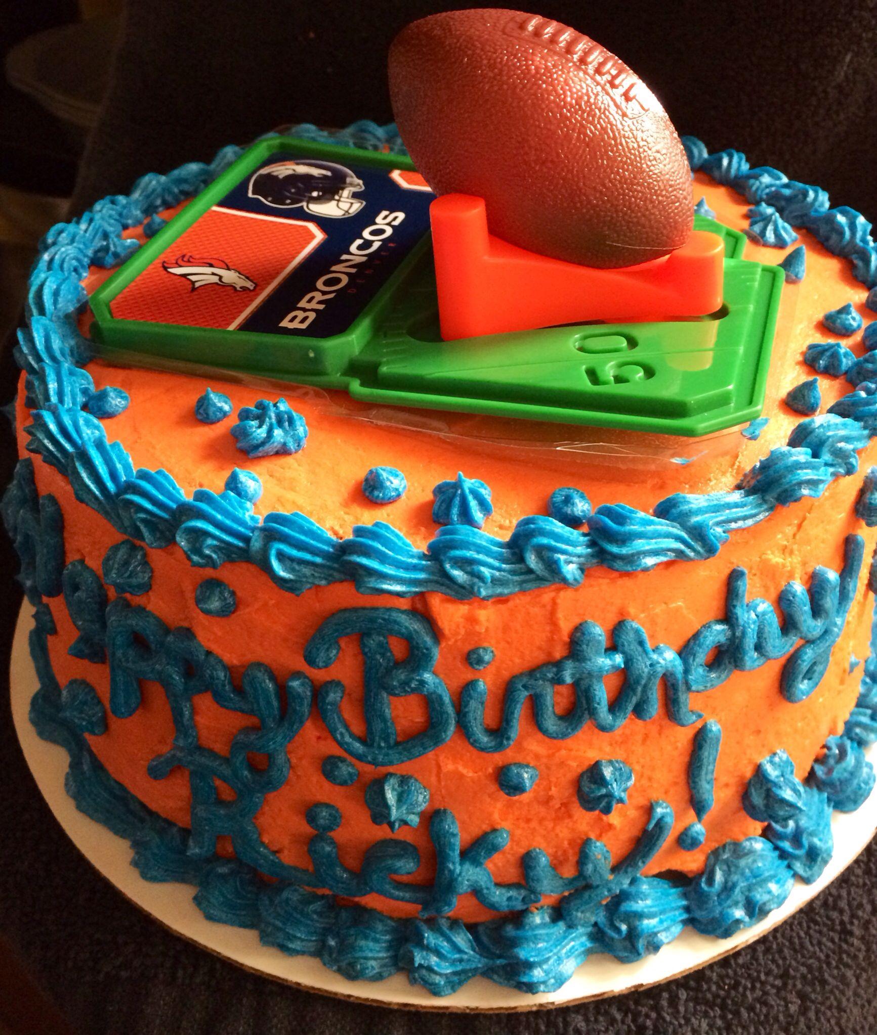 My Hubbys Denver Broncos Birthday Cake Cakes Pinterest