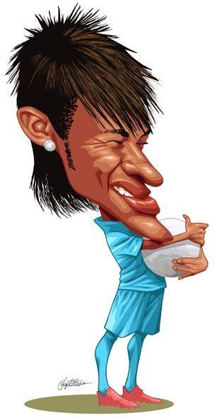 Caricaturas de neymar Jr  Dibujos caricaturas y cmics
