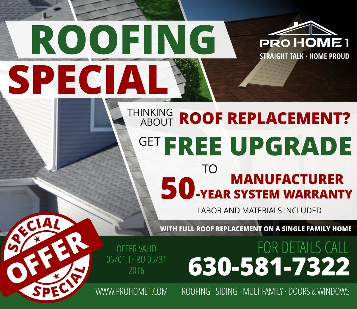 We Are Offering A Free Upgrade For The Month Of May 2016 Valid Until May 31 206 See Promotion S Details Freeupgrade Remo Remodel Roofing Interior Remodel