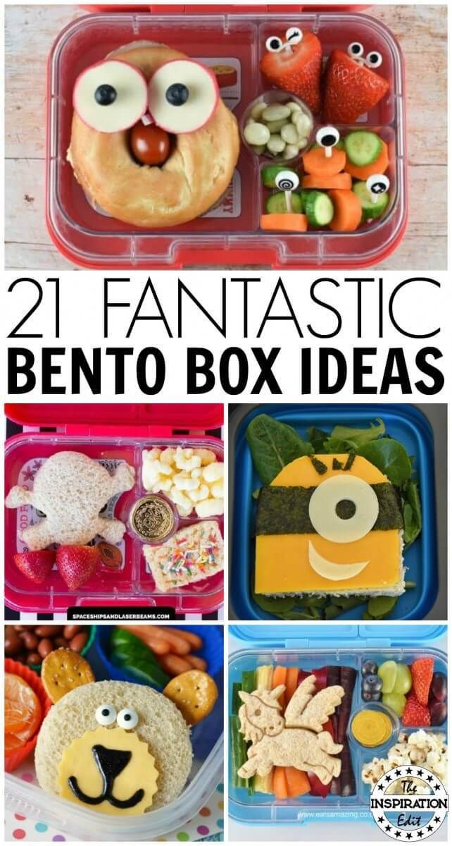 22 Fun Bento Lunchbox Ideas For Kids images