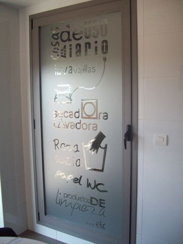 Vinilo puerta cristal galeria lavadora buscar con google - Cristal con vinilo ...
