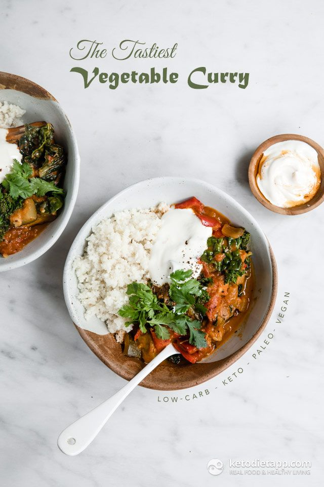 The Tastiest Low Carb Vegetable Curry