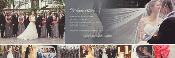 wedding tri fold thanks collage cards photographers photos