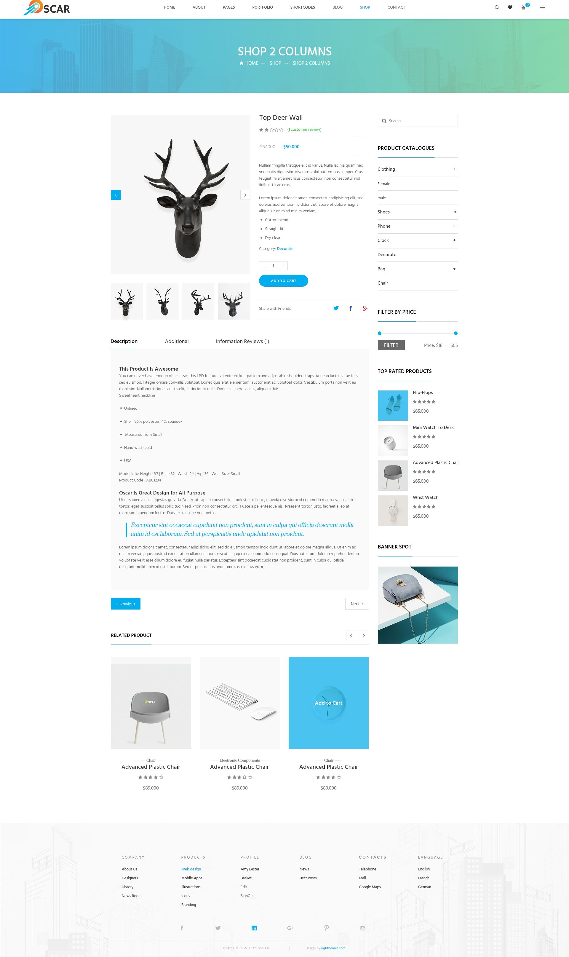 Oscar Multipurpose Psd Template Psd Templates Templates Web Design