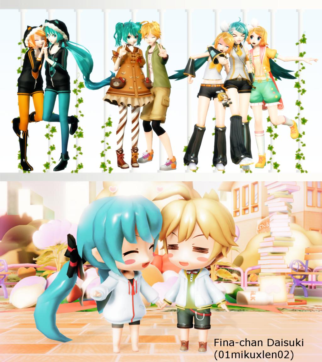 Regalo Del Dia De Miku Ojama Musi Pack Descarga Por 01mikuxlen02 Miku Manga Cosplay Hatsune Miku