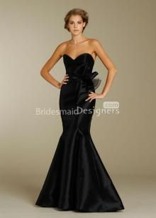 Long Trumpet Gown with Strapless Sweetheart Neckline